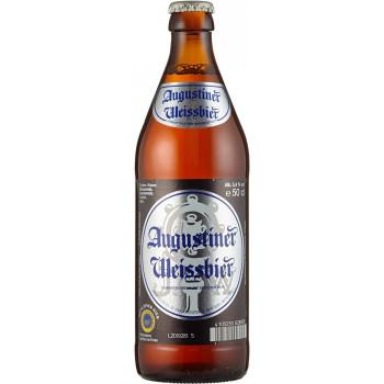 Пиво Augustiner Weissbier Светлое нефильтрованное алк. 5,4%, 0.5 л