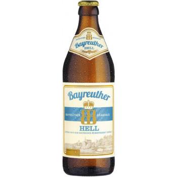 Пиво Bayreuther Hell Светлое фильтрованное алк. 4,9%, 0.5 л