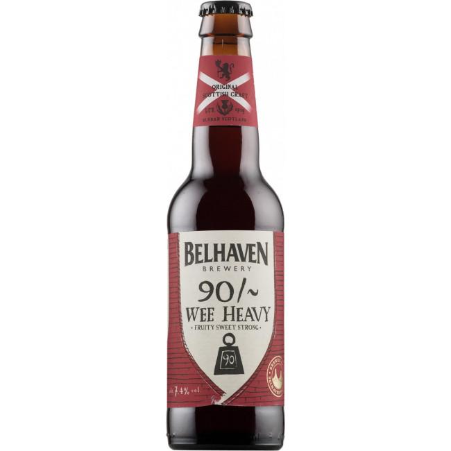 Пиво Belhaven Wee Heavy 90 шиллингов Тёмное алк. 7,4%, 0.33 л