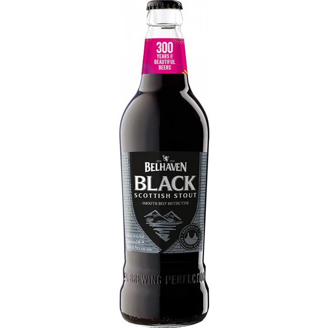 Пиво Belhaven Black Scottish Stout Чёрное фильтрованное 4,2%, 0.5 л