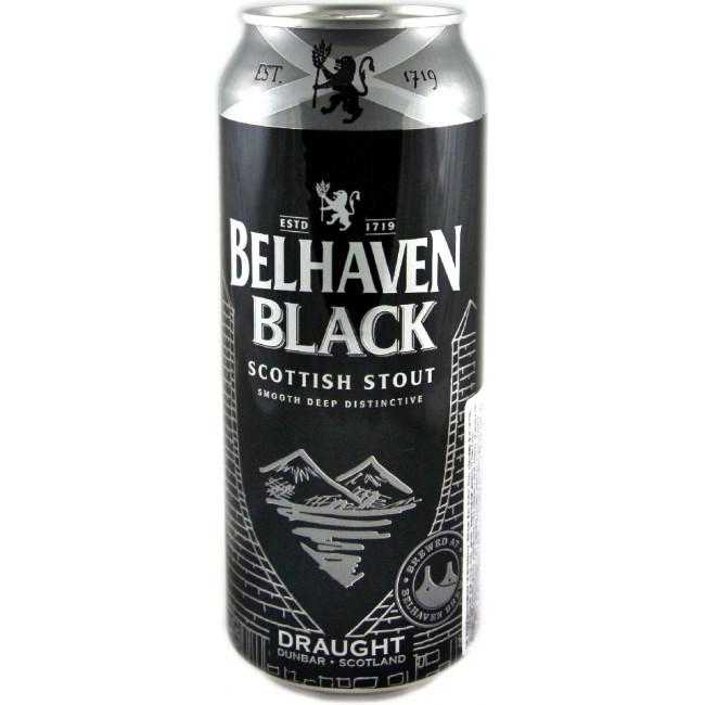 Пиво Belhaven Black Scottish Stout Чёрное фильтрованное 4,2%, банка 0,44 л