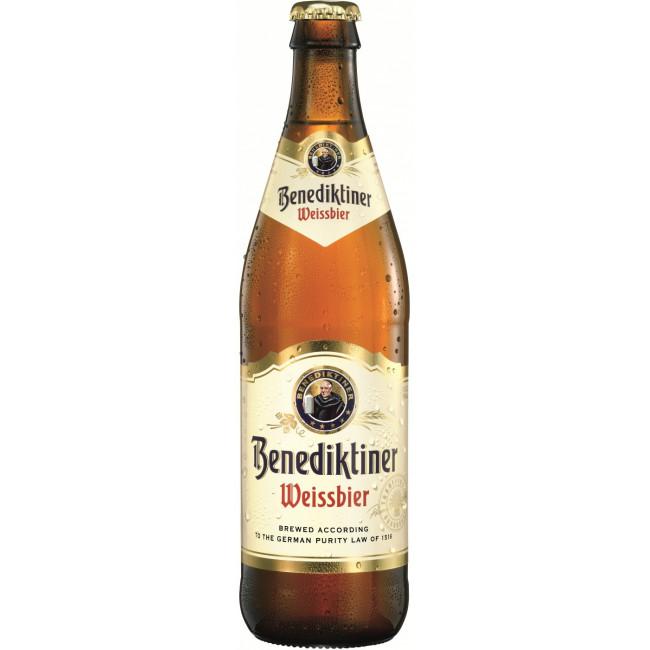 Пиво Benediktiner Weissbier Светлое нефильтрованное алк. 5,4%, 0.5 л