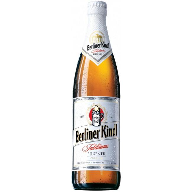 Пиво Berliner Kindl Jubilaums Pilsener Premium Очень светлое фильтрованное 5%, 0.5 л