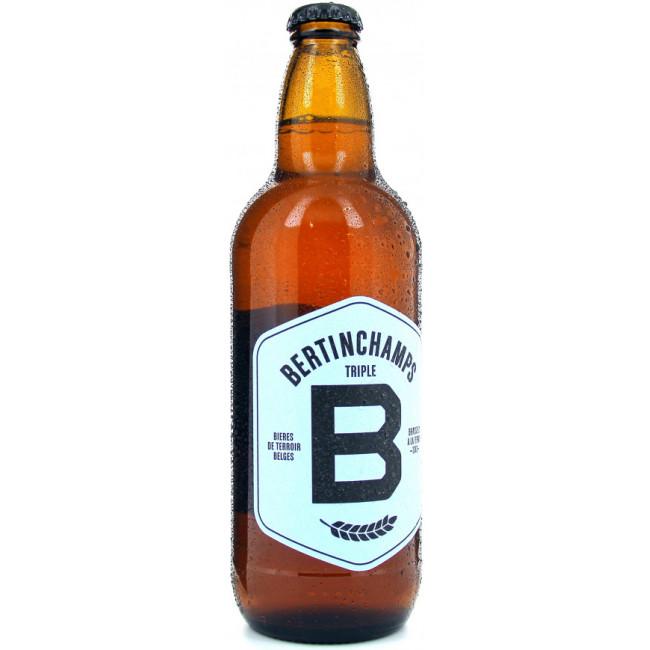 Пиво Bertinchamps Triple Светлое нефильтрованное алк. 8%, 0.5 л
