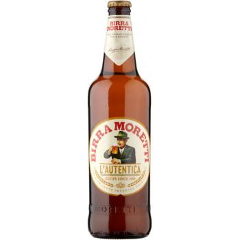 Пиво Birra Moretti L'Autentica Светлое фильтрованное 4,6%, 0.33 л