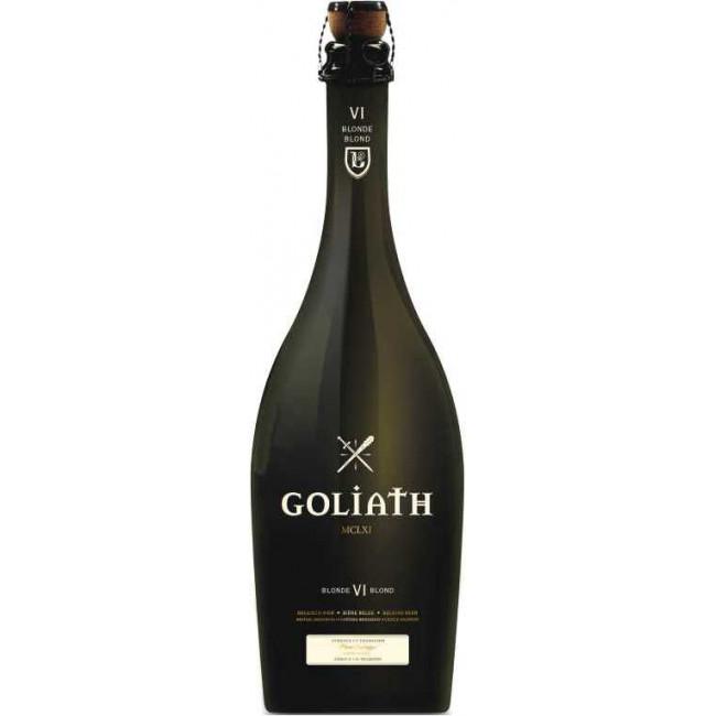 "Пиво Brasserie des Legendes, ""Goliath"" Blonde светлое нефильтрованное 6%, 0.75 л"