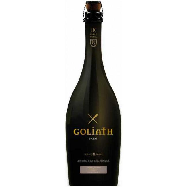 Пиво Brasserie des Legendes Goliath Triple Светлое нефильтрованное алк. 9%, 0.75 л