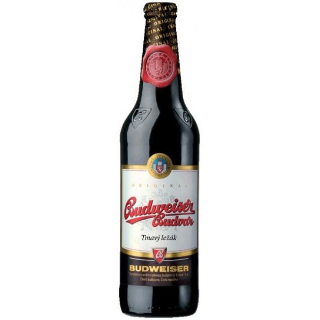 Пиво Budweiser Budvar Tmavy Lezak Тёмное фильтрованное алк. 4,7%, 0.33 л