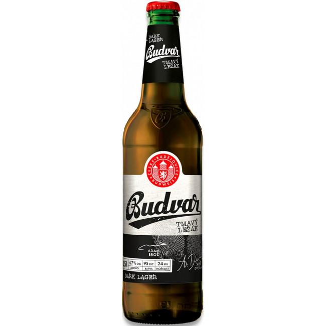 Пиво Budweiser Budvar Tmavy Lezak Тёмное фильтрованное алк. 4,7%, 0.5 л