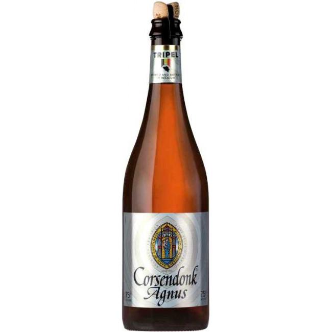 """Пиво Corsendonk, """"Agnus"""" Tripel Светлое фильтрованное 7,5%, 0.75 л"""