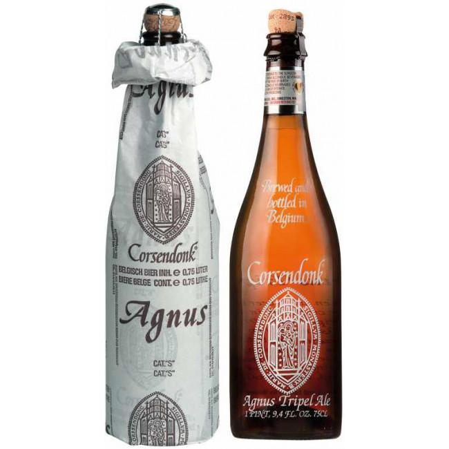 Пиво Corsendonk Agnus Tripel Светлое фильтрованное алк. 7,5%, бут. 0,75 л в бумажной упаковке