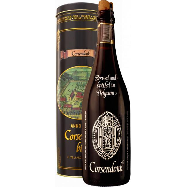 Пиво Corsendonk Pater Dubbel Тёмное фильтрованное в тубусе,  0.75 л