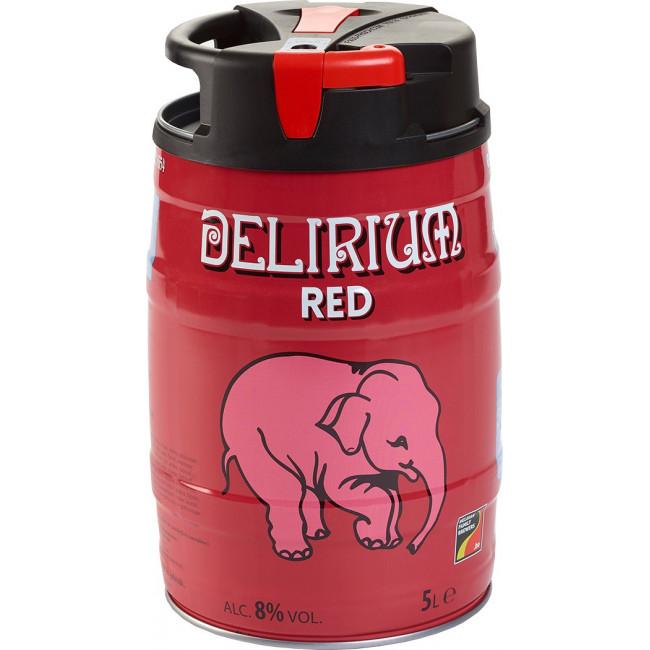 Пиво Delirium Red Красное вишнёвое алк. 8%, бочонок 5 л