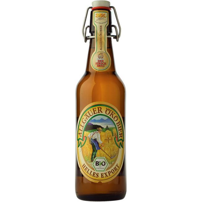 Пиво Der Hirschbrau Allgauer Huttenbier Альпийское светлое алк. 5,2%, 0.5 л