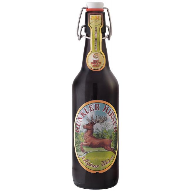Пиво Der Hirschbrau Dunkler Hirsch Тёмный олень нефильтрованное алк. 5,2%, 0.5 л