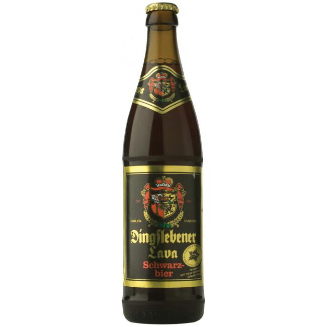 Пиво Dingslebener Lava Тёмное фильтрованное 6%, 0.5 л