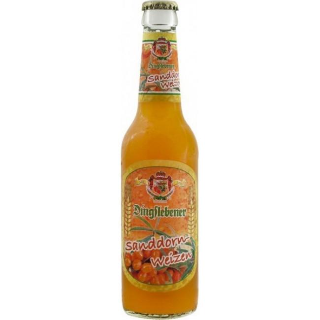 Пиво Dingslebener, Sanddorn-Weizen пшеничное со вкусом облепихи, 0.33 л