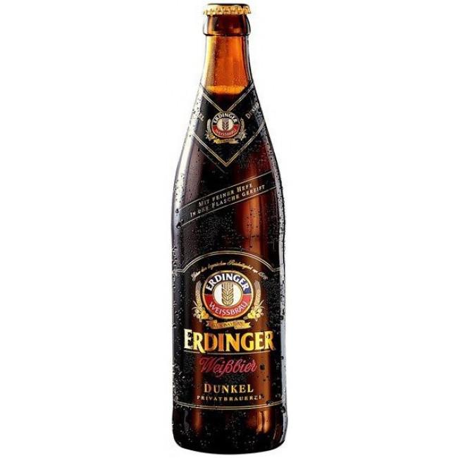 Пиво Erdinger Dunkel Тёмное нефильтрованное 5,3%, 0.5 л
