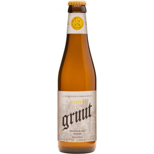 """Пиво """"Gruut"""" Blond Светлое нефильтрованное 5,5%, 0.33 л"""