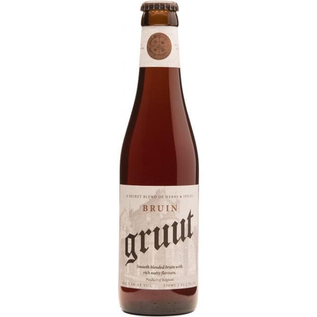 """Пиво """"Gruut"""" Bruin Тёмное нефильтрованное 8%, 0.33 л"""