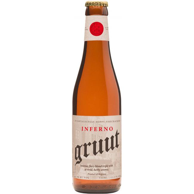 "Пиво ""Gruut"" Inferno Светлое крафтовое 9%, 0.33 л"
