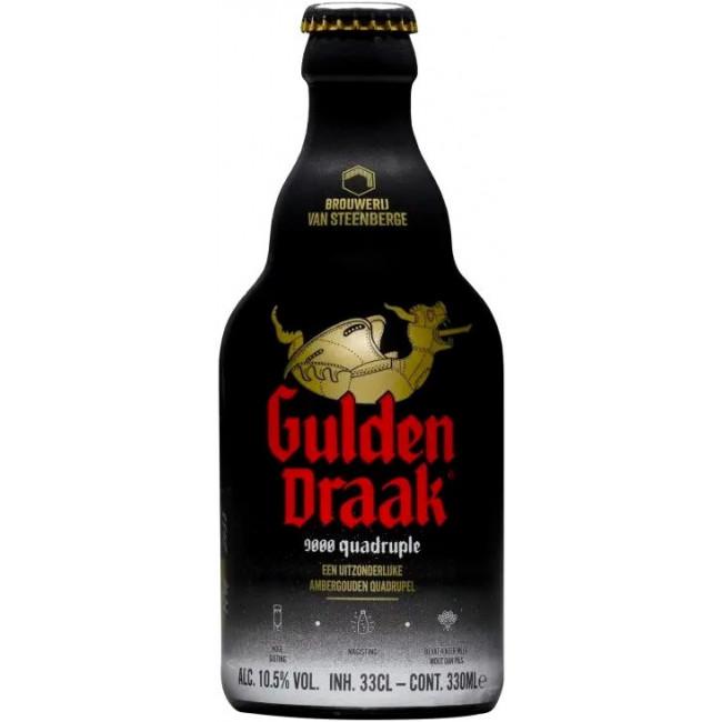 """Пиво """"Gulden Draak"""" 9000 Quadruple Янтарное фильтрованное 10,5%, 0.33 л"""