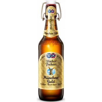 Пиво Hacker-Pschorr Munchner Gold Светлое фильтрованное алк. 5,5%, 0.5 л