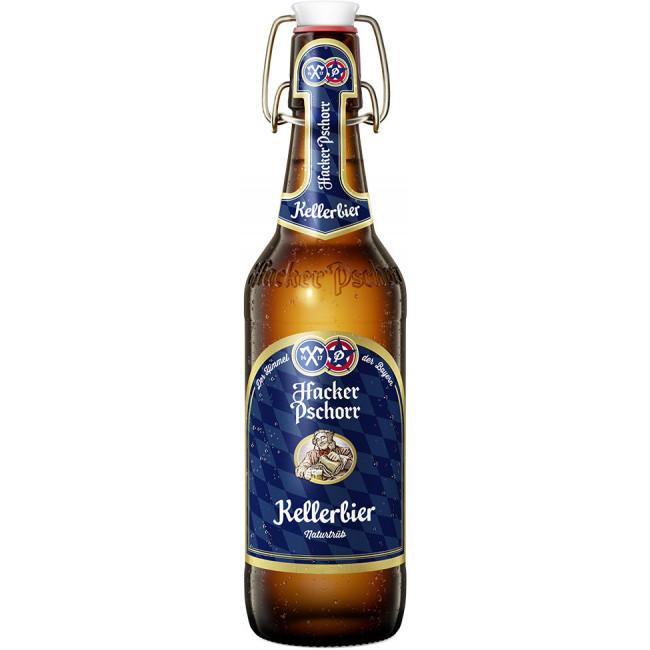 Пиво Hacker-Pschorr Munchner Kellerbier Светлое нефильтрованное алк. 5,5%, 0.5 л