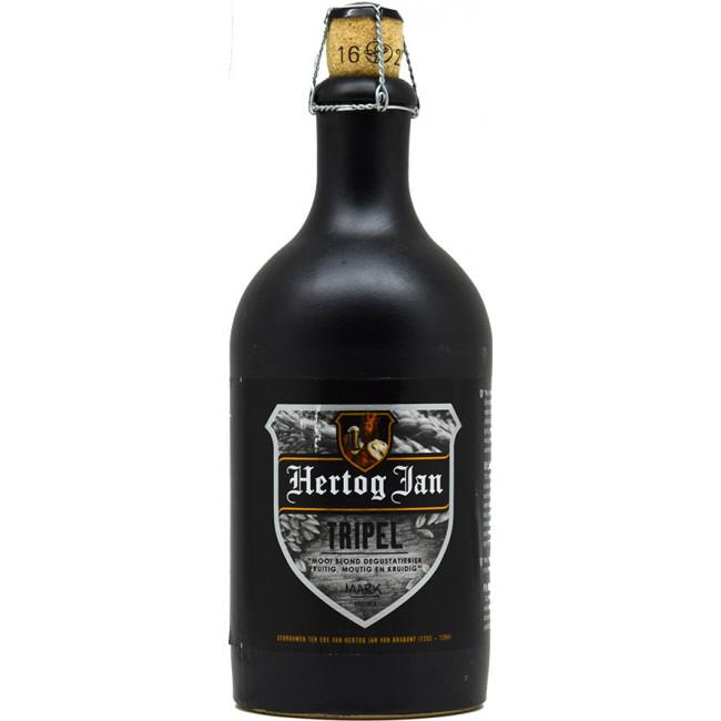 Пиво Hertog Jan Tripel Светлое нефильтрованное алк. 8,5%, 0.5 л