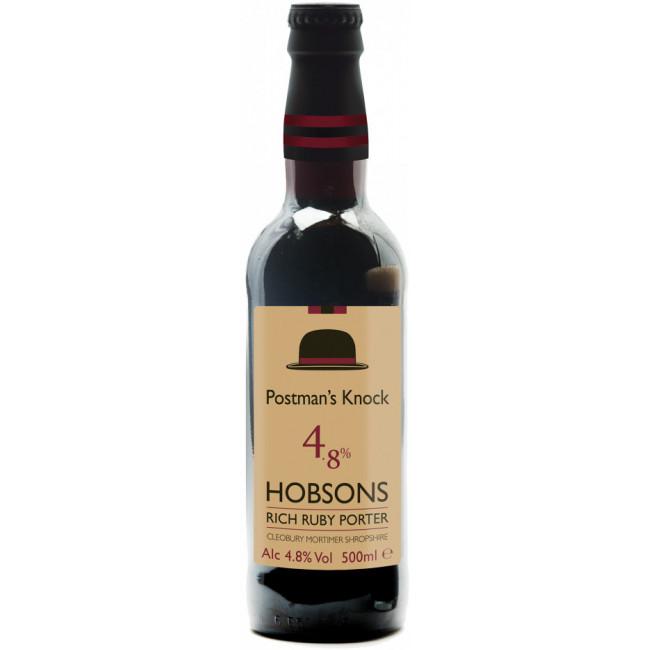 Пиво Hobsons Postman's Knock Тёмное фильтрованное алк. 4,8%, 0.5 л