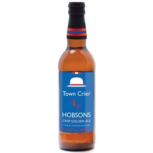 Пиво Hobsons Town Crier Средне-светлое фильтрованное 4,5%, 0.5 л