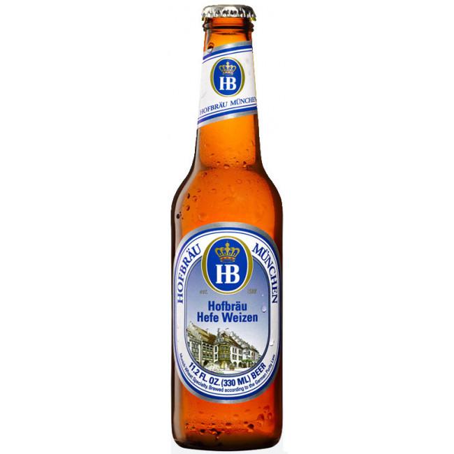 """Пиво """"Hofbrau"""" Munchner Weisse Светлое нефильтрованное 5,1%, 0.33 л"""