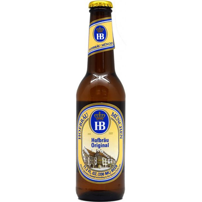"""Пиво """"Hofbrau"""" Original Светлое фильтрованное 5,1%, 0.33 л"""