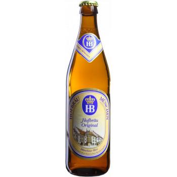 """Пиво """"Hofbrau"""" Original Светлое фильтрованное 5,1%, 0.5 л"""
