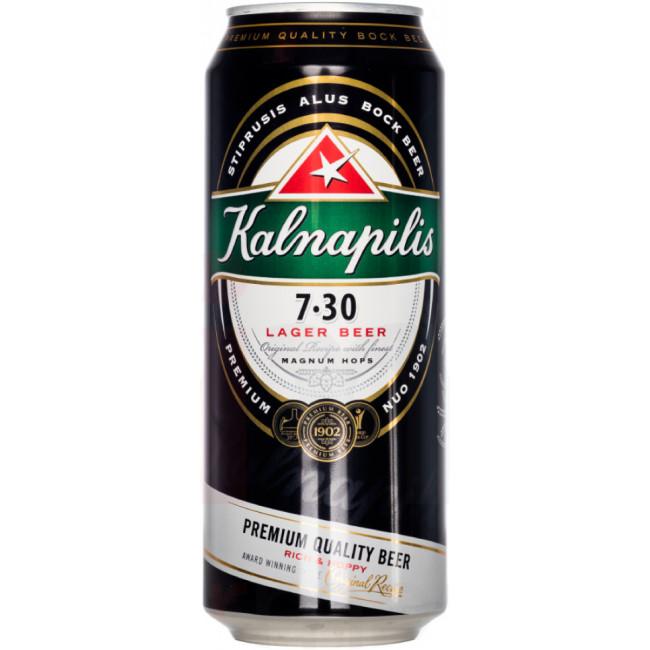 Пиво Kalnapilis 7.30 Светлое фильтрованное, банка 0,5 л