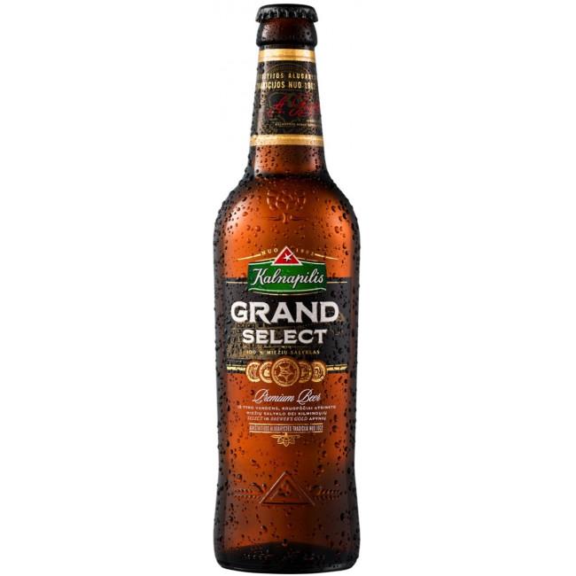Пиво Kalnapilis Grand Select Светлое фильтрованное алк. 5,4%, 0.5 л