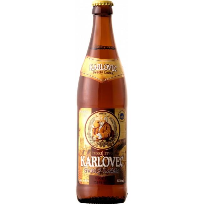 Пиво Karlovec Svetly Lezak Светлое фильтрованное 4,8%, 0.5 л
