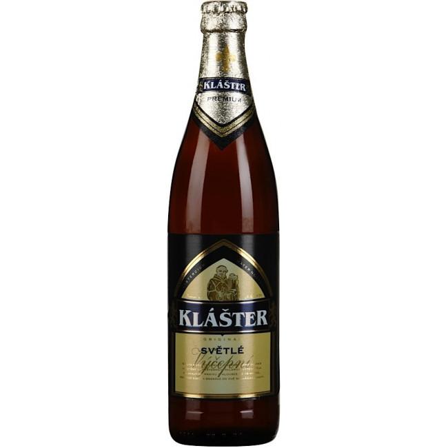 Пиво Klaster Svetle Светлое фильтрованное алк. 5%, 0.5 л