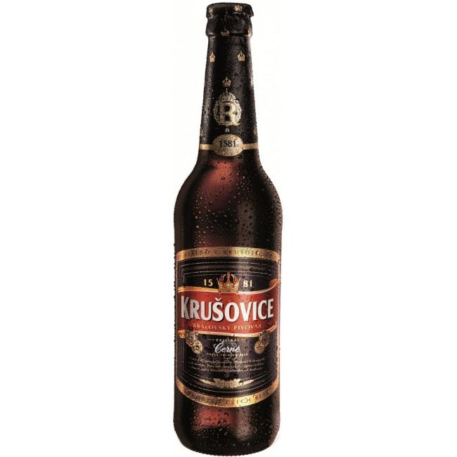 Пиво Krusovice Cerne Тёмное фильтрованное 3,8%, 0.5 л
