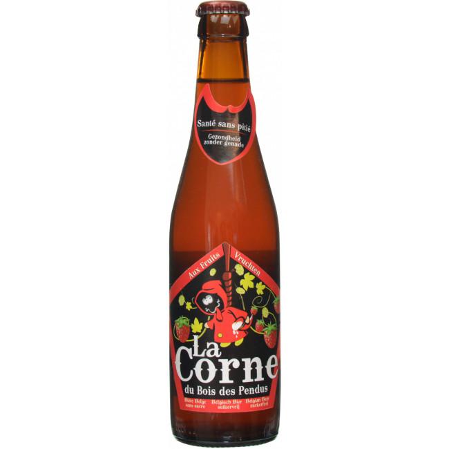 Пиво La Corne Aux Fruits Фруктовое малиновое алк. 4%, 0.33 л