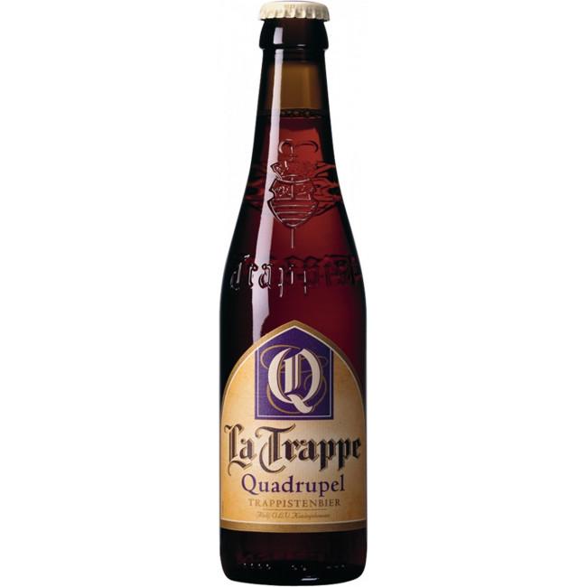 Пиво La Trappe Quadrupel Тёмное нефильтрованное алк. 10%, 0.33 л