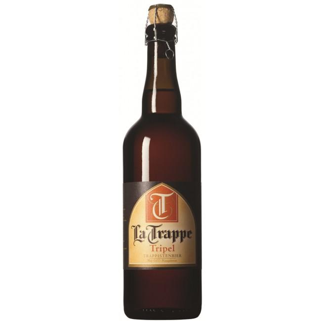 Пиво La Trappe Tripel Янтарное нефильтрованное алк. 7,7%, 0.75 л