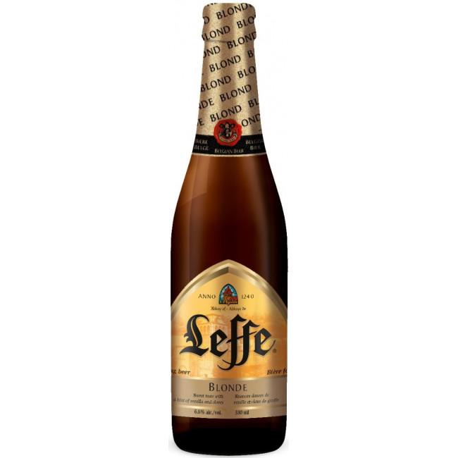 Пиво Leffe Blonde Светлое фильтрованное алк. 6,6%, 0.33 л