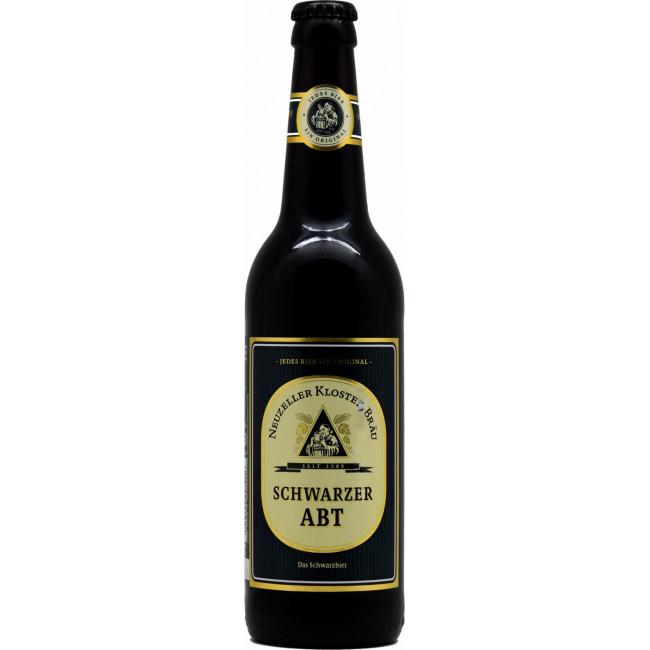 Пиво Neuzeller Kloster-Brau Schwarzer Abt Чёрное фильтрованное алк. 3,9%, 0.5 л