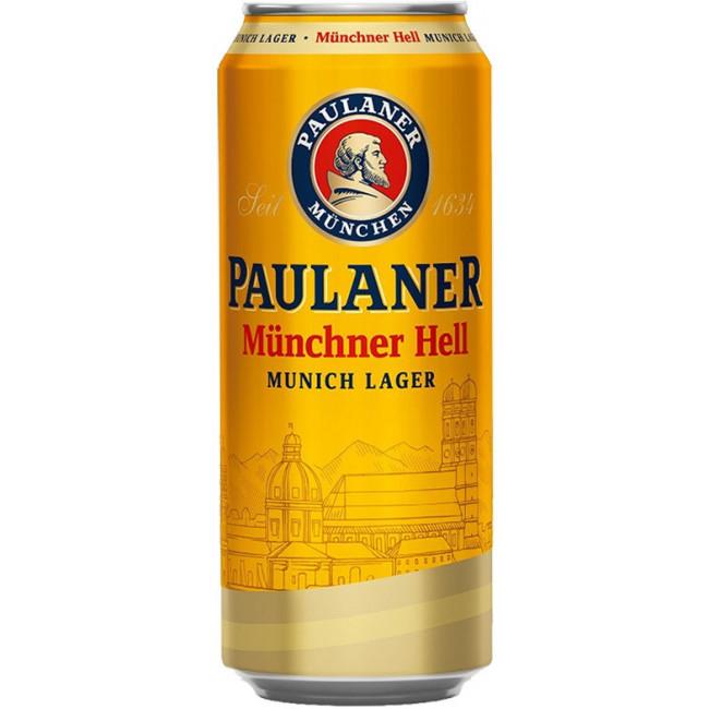 Пиво Paulaner Original Munchner Hell Оригинальное мюнхенское светлое, банка 0.5 л