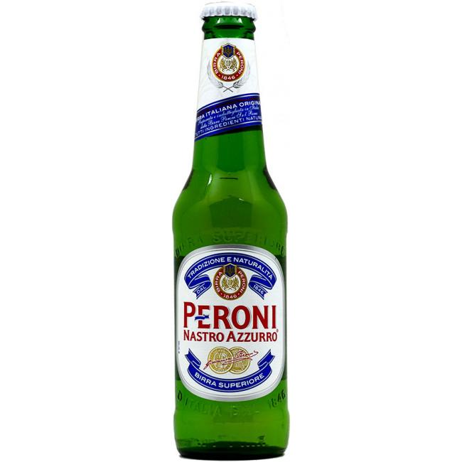 Пиво Peroni Nastro Azzurro Светлое фильтрованное 5,1%, 0.33 л