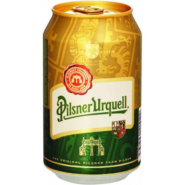 Пиво Pilsner Urquell Светлое фильтрованное 4,4%, банка 0.33 л
