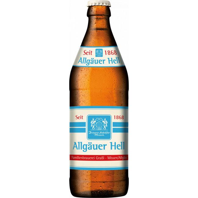 Пиво Schaeffler Allgauer Hell Светлое фильтрованное алк. 4,9%, 0.5 л