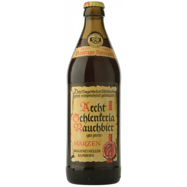 Пиво Schlenkerla Rauchbier Marzen Тёмное фильтрованное копчёное алк. 5,1%, 0.5 л
