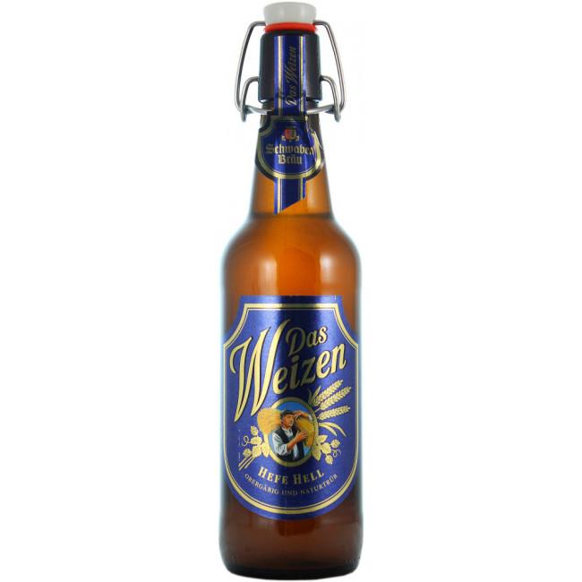 Пиво Schwaben Brau Das Weizen Светлое пшеничное нефильтрованное алк. 5%, 0.5 л